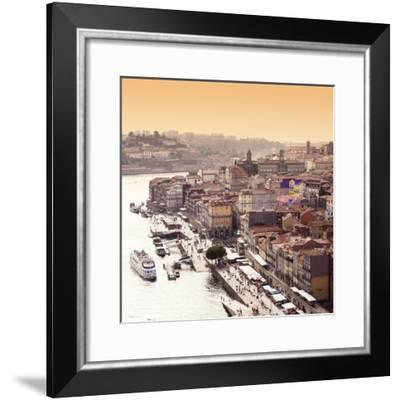 Welcome to Portugal Square Collection - The Douro River at Sunset - Porto-Philippe Hugonnard-Framed Photographic Print