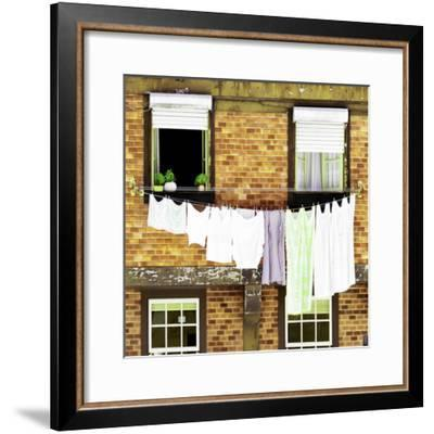 Welcome to Portugal Square Collection - Yellow Brick Facade-Philippe Hugonnard-Framed Photographic Print