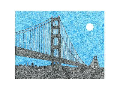 Welcome to the Bay-Viz Art Ink-Giclee Print