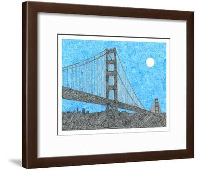 Welcome to the Bay-Viz Art Ink-Framed Giclee Print