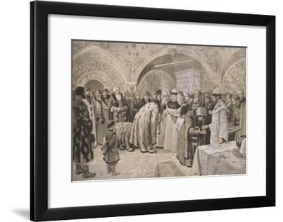 Welcome to the Tsarina after the Easter Matins-Alexander Andreyevich Chikin-Framed Giclee Print