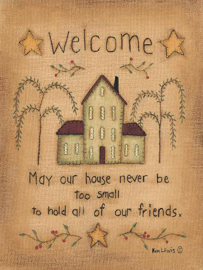 Welcome-Kim Lewis-Art Print