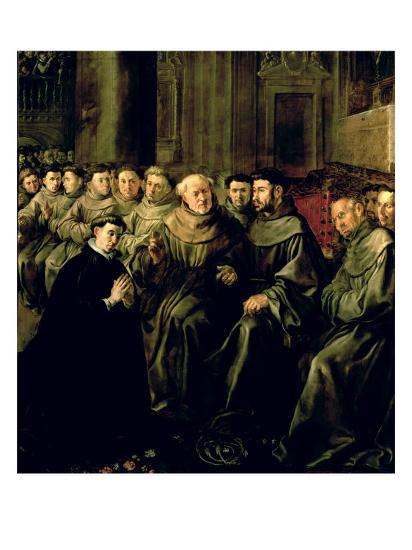 Welcoming St. Bonaventure-Francisco Herrera-Giclee Print