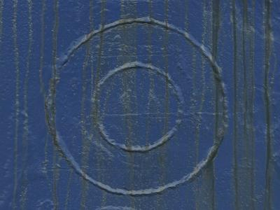 Welded Circles on a Streaked and Painted Surface--Photographic Print