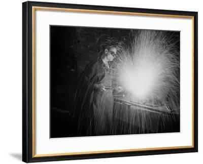 Welder at Work--Framed Photographic Print