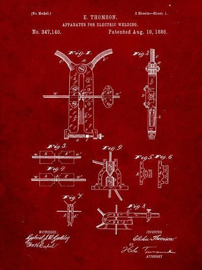 Welding Machine Patent-Cole Borders-Art Print