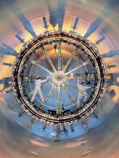 Welding the Inside of the Fuel Tank of An Ariane 5-David Parker-Photographic Print