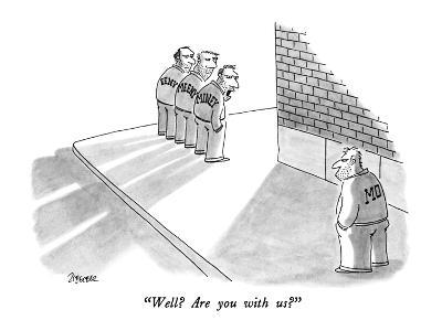"""Well?  Are you with us?"" - New Yorker Cartoon-Jack Ziegler-Premium Giclee Print"