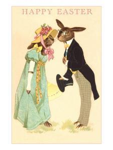 Well Dressed Easter Bunny Couple