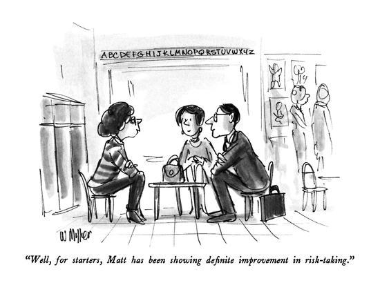 """Well, for starters, Matt has been showing definite improvement in risk-ta?"" - New Yorker Cartoon-Warren Miller-Premium Giclee Print"