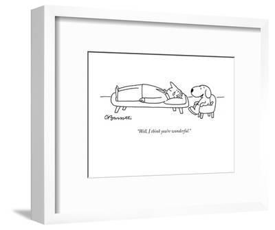 """Well, I think you're wonderful."" - New Yorker Cartoon-Charles Barsotti-Framed Premium Giclee Print"