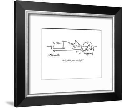 """Well, I think you're wonderful."" - New Yorker Cartoon-Charles Barsotti-Framed Premium Giclee Print"