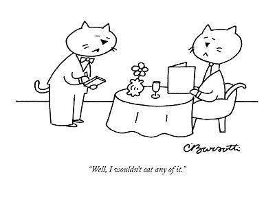 """Well, I wouldn't eat any of it."" - New Yorker Cartoon-Charles Barsotti-Premium Giclee Print"