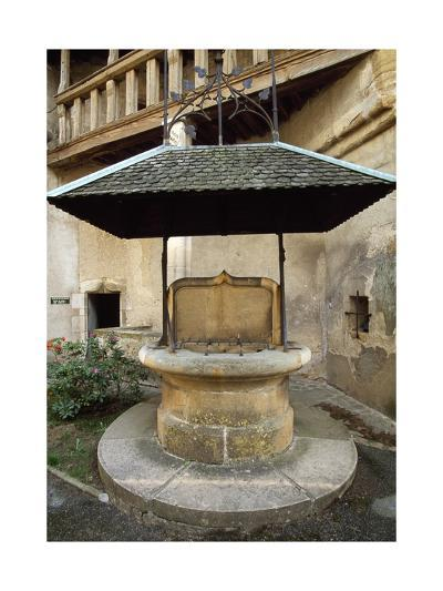 Well in Courtyard of Chateau De Corcelles, France, 15th-16th Century--Giclee Print