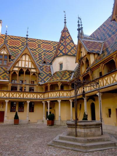 Well in Hotel-Dieu Courtyard, Beaune, Burgundy, France-Lisa S^ Engelbrecht-Photographic Print