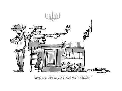 """""""Well, now, hold on, Jed. I think this is a Malbec."""" - New Yorker Cartoon-Corey Pandolph-Premium Giclee Print"""
