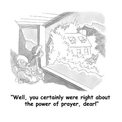 """Well, you certainly were right about the power of prayer, dear!"" - Cartoon-Gahan Wilson-Premium Giclee Print"