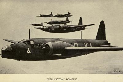 Wellington Bombers in Flight--Photographic Print