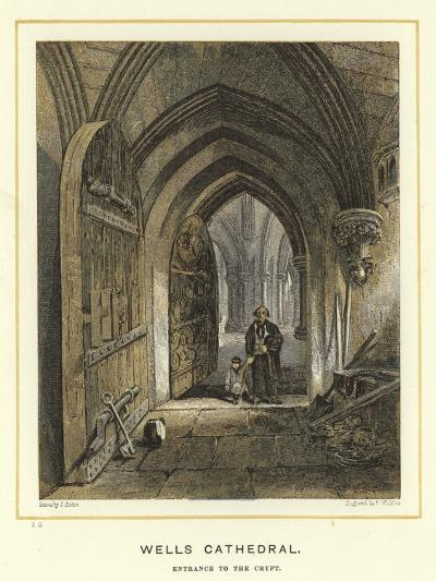 Wells Cathedral, Entrance to the Crypt--Giclee Print