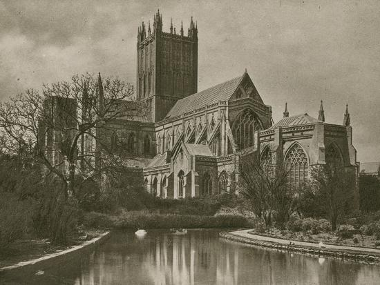 Wells Cathedral, from the Swan Pool--Photographic Print