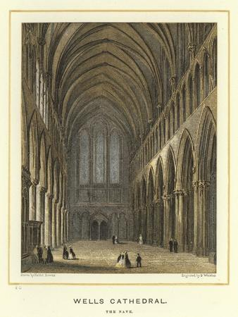 Wells Cathedral, the Nave-Hablot Knight Browne-Giclee Print
