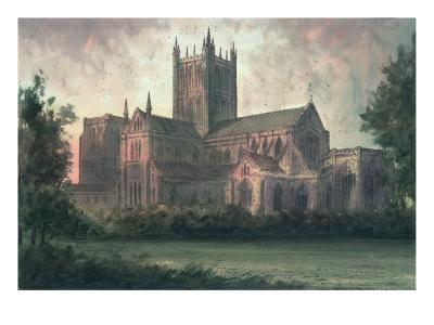 Wells Cathedral: View from the Southeast-Paul Braddon-Giclee Print