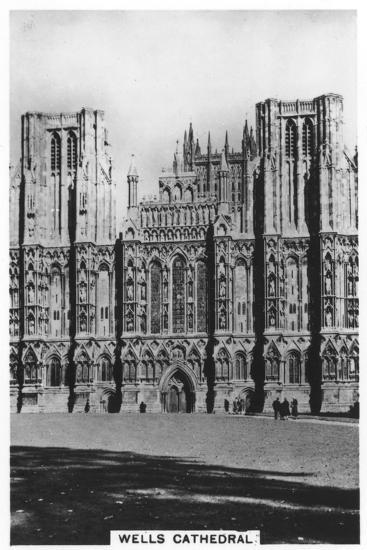 Wells Cathedral, Wells, Somerset, England, 1936--Giclee Print