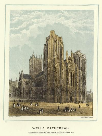 Wells Cathedral, West Front Showing the North Porch Transept, Etc-Hablot Knight Browne-Giclee Print