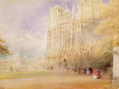 Wells Cathedral-Albert Goodwin-Giclee Print