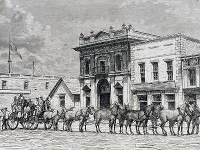 Wells Fargo and Company Stagecoach, United States, 19th Century--Giclee Print