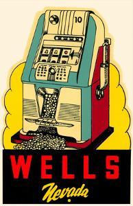 Wells, Nevada Decal, Slot Machine