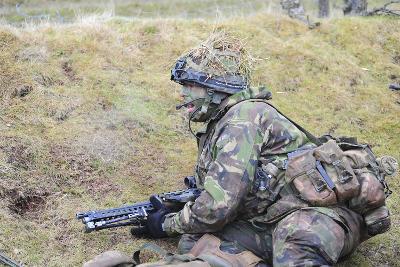 Welsh Guards Platoon Training at Sennybridge Training Area, Wales-Stocktrek Images-Photographic Print