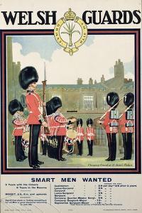 """Welsh Guards - Smart Men Wanted"", Recruitment Poster, 1919"
