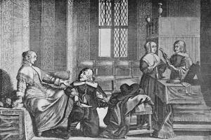 'A Lady Buying Shoes', c1650, (1903) by Wenceslaus Hollar