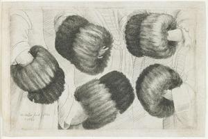 A Muff in Five Views, 1645-1646 by Wenceslaus Hollar