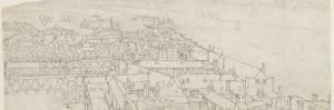 A View from St. Mary's Southwark, Looking Towards Westminster (Pen and Ink over Graphite on Paper) by Wenceslaus Hollar