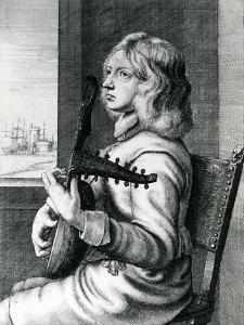 Baroque Lute Player by Wenceslaus Hollar