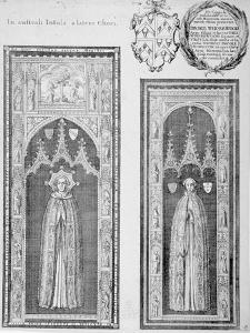 Brasses of John Newcourt and Brome Whorewood in Old St Paul's Cathedral, City of London, 1656 by Wenceslaus Hollar