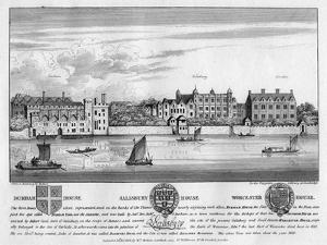 Durham House, Salisbury House, and Worcester House, London, C1630 by Wenceslaus Hollar