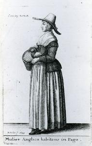 English Country Woman, 1643 (Etching) by Wenceslaus Hollar