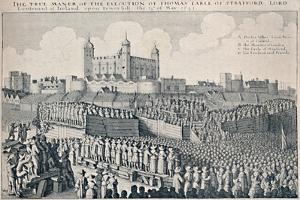 'Execution of the Earl of Strafford', c1641, (1903) by Wenceslaus Hollar