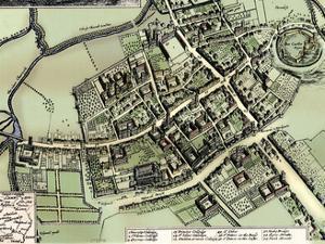 Hollar's plan of Oxford, c1643 by Wenceslaus Hollar