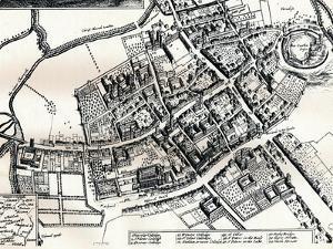 Hollars Plan of Oxford, C1643 by Wenceslaus Hollar