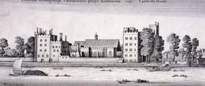 Lambeth Palace, London, 1647 by Wenceslaus Hollar