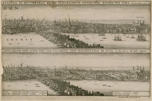 London, before and after the Great Fire by Wenceslaus Hollar