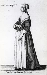 London Citizen's Daughter, 1643 (Etching) by Wenceslaus Hollar