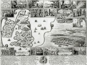 Map of Civil War England and a View of Prague, 1632 by Wenceslaus Hollar