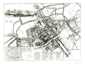 Map of Oxford, 1643 by Wenceslaus Hollar