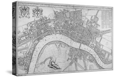 Map of the Cities of London and Westminster, Southwark and the Suburbs, 1680