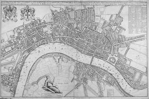 Map of the Cities of London and Westminster, Southwark and the Suburbs, 1680 by Wenceslaus Hollar